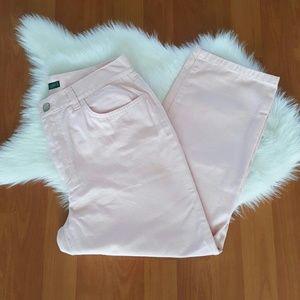 Lauren jeans company pink cotton capri pants 4